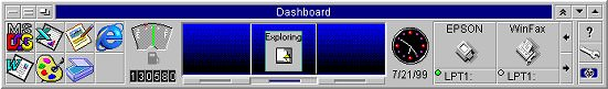hp's early 90's dashboard