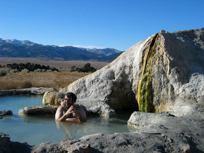 Ahh, relaxing in a nice hot spring