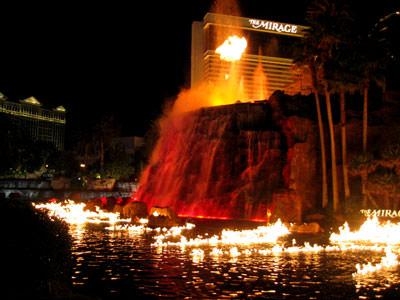 Flaming Waterfall at the Mirage