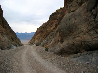 exiting Titus Canyon, heading west