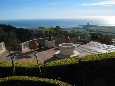 patio overlooking Pacific ocean