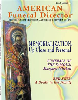 Jerry on cover of American Funeral Director Magazine
