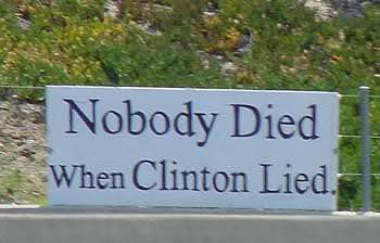 Nobody died when Clinton lied.
