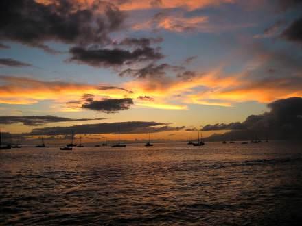 Lahaina sunset, 1 June 2004