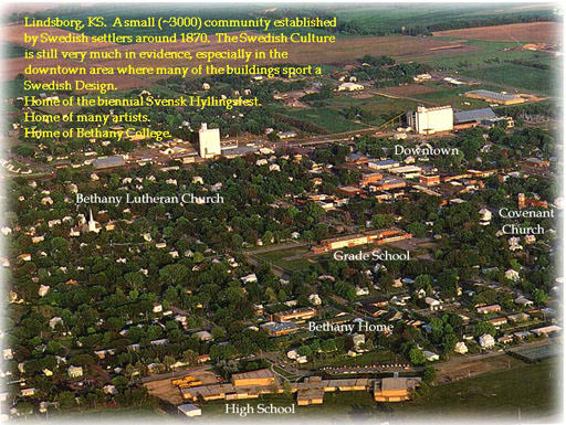 Lindsborg from the air