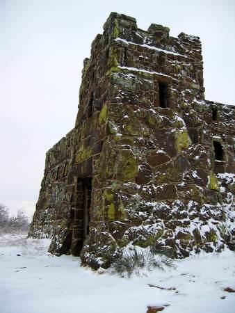 Coronado castle in the snow