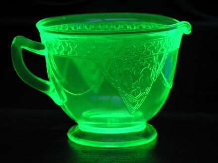 uranium glass creamer