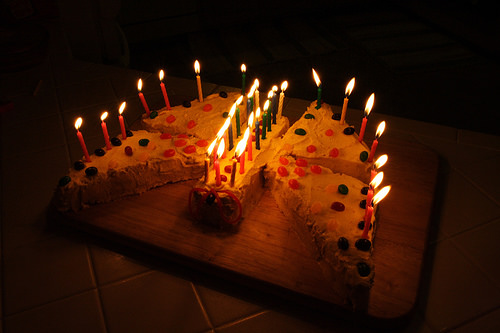 flaming butterfly cake