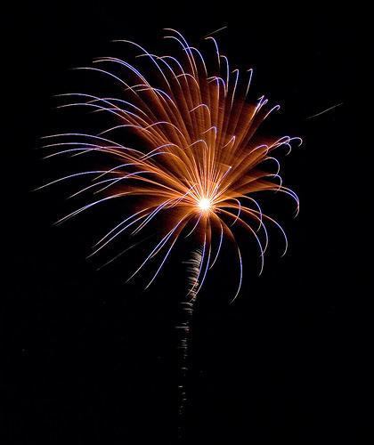 Lindsborg fireworks, July 4th