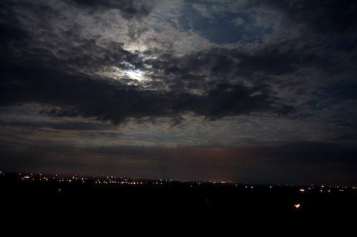 full moon over Lindsborg