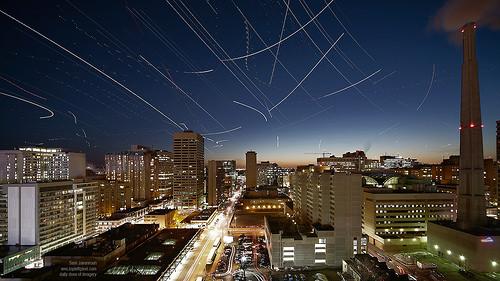Toronto time laps night sky