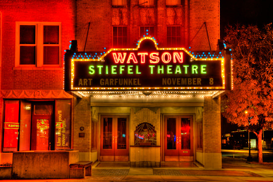 Stiefel Theatre at night (HDR)
