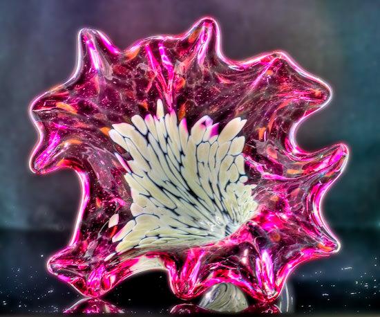 Corning hand-blown glass flower