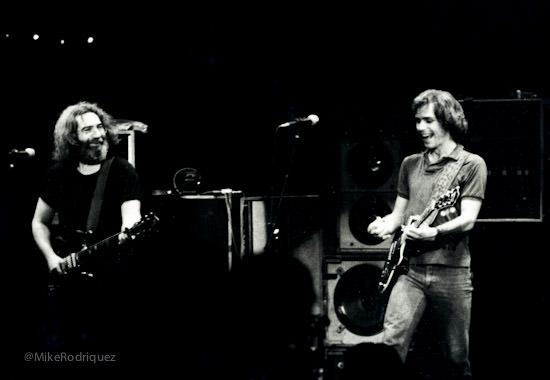 Jerry Garcia and Bob Weir 1980