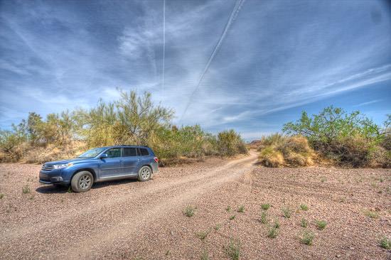 Desert near Blythe