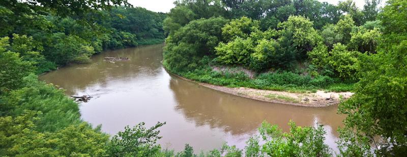 Smoky Hill River panorama