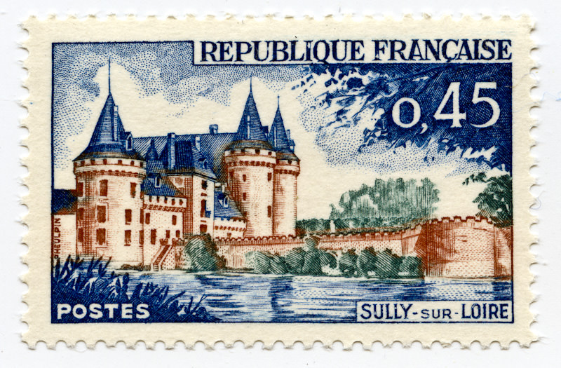 French 1961 tourism stamp