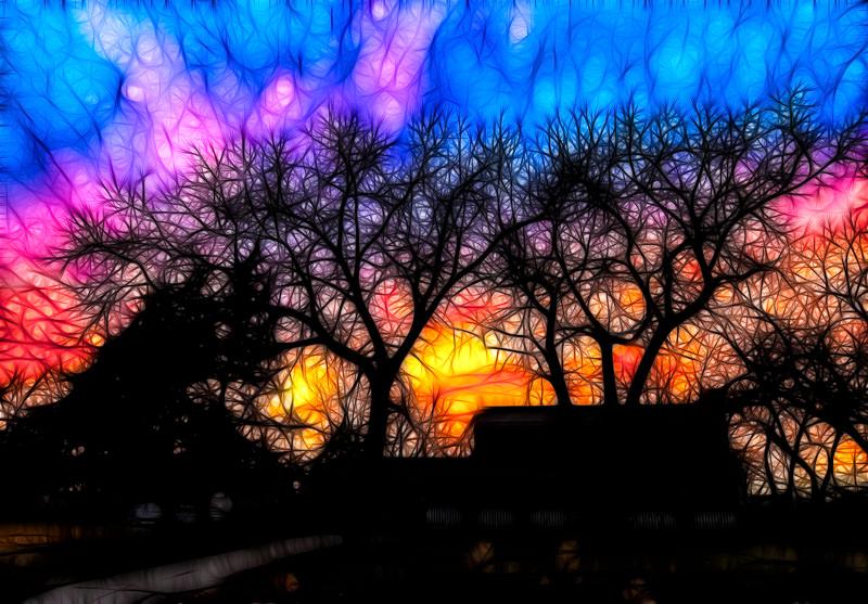 fractalius sunset